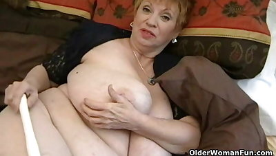 Oversized granny with huge tits
