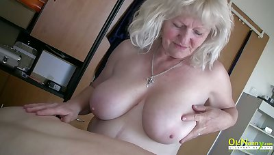 OldNannY Matures Carrying-on with Hardened Cock