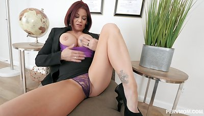 Hot mom welcomes son's friend for a willing fuck