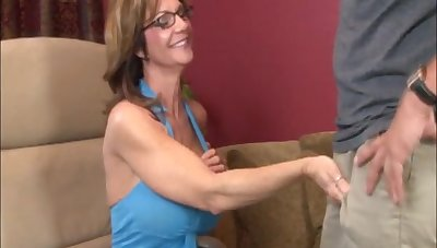 Dick and ball stimulation makes him cum firm - Milf Deauxma