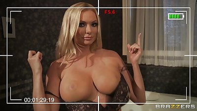 Busty become man Briana Banks loves to bonk with her big dick neighbor