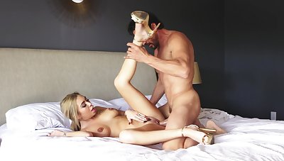 Loved blonde soaks belly in jizz after a good fuck