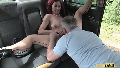 The way the taxi driver fucks will not hear of is astounding for the on one's uppers wife