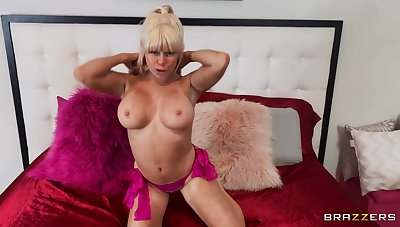 POV video of busty blonde Nikki Delano prominent head and having sex
