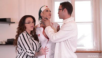 Female doctor with an increment of their way slutty nurse, huge cock sharing program