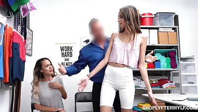Sexy MILF McKenzie Lee pays be advantageous to guilty stepdaughter with hard fuck