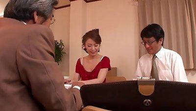 Handsome Japanese model Emiri Sakashita gets fucked by an older guy