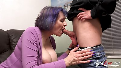 AgedLovE Busty Mature Fucking Youngster Stud