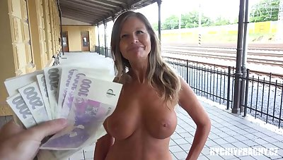 Stinking cougar humped in public Point-Of-View
