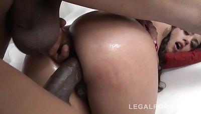 Shayenne Samara Dap With Two Black Monster Cocks