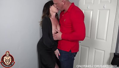 Lad fucks his adult aunt and cums inside their way shaved hole