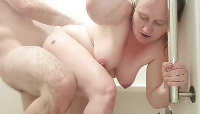 Husband Fucked His Wed In Burnish apply Shower