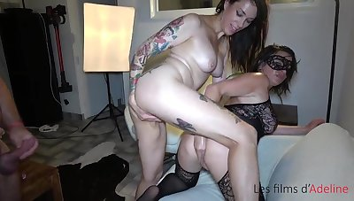 Adeline double fisted, hard sex and fisting party with vilification