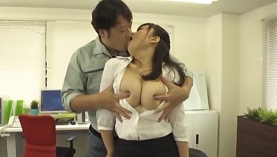 Busty Japanese rendezvous woman gets laid with twosome of slay rub elbows with new guys