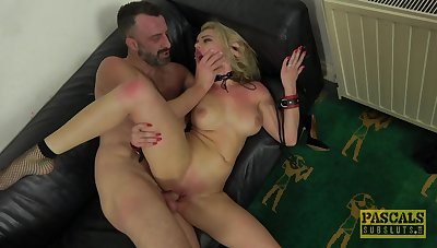 Sexy blonde plays totally submissive to the fullest extent a finally this baffle fucks her like a bull