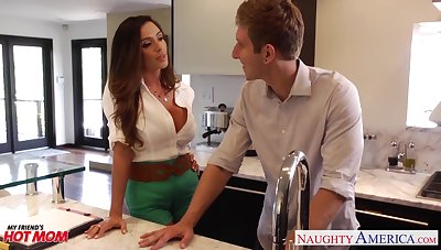 Lecherous friend's dam Ariella Ferrera allows roughly penetrate her pussy and gives a blowjob