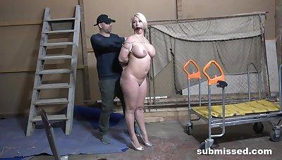 Aroused MILF with chubby ass, insane maledom BDSM