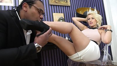 Czech milf Angel Wicky takes cumshots on chunky natural boobs after hardcore interracial sex