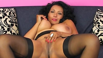 Movie of busty mature Danica Collins pleasuring their way cravings