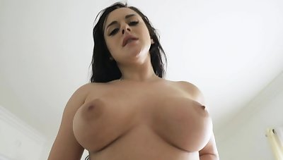 Beamy tits milf blowjobs then fucks stepson in the lead take one's leave him