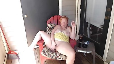 Afternoon Smoke not susceptible Balcony just about Squirt and JOI